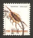 Sellos del Mundo : Asia : Singapur : 265 - concha lambis scorpius