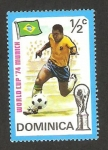 Stamps : America : Dominica :  mundial de fútbol  Alemania 74, Brasil