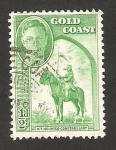 Stamps Africa - Ghana -  gold coast - gendarme a caballo
