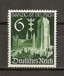 Sellos de Europa - Alemania -  III Reich / Retorno de Dantzig