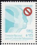 Stamps Chile -  comision nacional para el control del tabaquismo