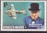 Stamps Maldives -  Centenario del Nacimiento de Sir Winston Churchill