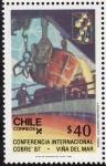 Stamps Chile -  Conferencia internacional del cobre