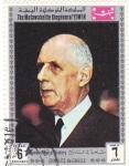 Sellos del Mundo : Asia : Yemen : Hombres famosos de la Historia. Charles de Gaulle
