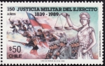 Stamps of the world : Chile :  JUSTICIA MILITAR