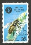 Stamps North Korea -  fauna, abeja butinant