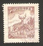 Stamps : Asia : South_Korea :  fauna, ciervos