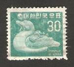 Stamps : Asia : South_Korea :  fauna, un pato