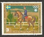 Stamps Equatorial Guinea -  olimpiadas de Munich 72, hípica, equipo de Suecia