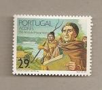 Sellos de Europa - Portugal -  Açores-550 de poblamiento
