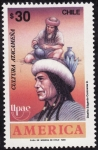 Stamps of the world : Chile :  AMERICA -Cultura Atacameña