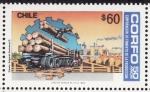 Stamps Chile -  50 años de la corporacion de fomento a la produccion