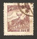 Stamps : Asia : South_Korea :  fauna ciervos