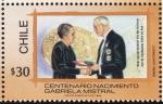 Stamps Chile -  Centenario nacimiento Gabriela Mistral