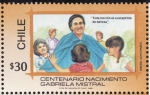 Stamps of the world : Chile :  Centenario nacimiento Gabriela Mistral