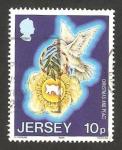 Sellos del Mundo : Europa : Isla_de_Jersey : navidad y año internacional de la paz
