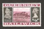 Stamps United Kingdom -  Guernsey - Castillo Cornet y Edouard el Confesor