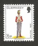 Stamps : Europe : United_Kingdom :  Guernsey - uniforme militar, soldado del regimiento del este