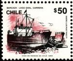 Sellos del Mundo : America : Chile : BARCAZA