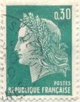 Stamps France -  Postes Republique française verde