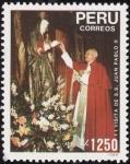 Stamps Peru -  VISITA DE SU SANTIDAD JUAN PABLO II