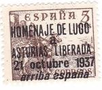 Stamps Spain -  Cid. Sobreimpreso Homenaje de Lugo