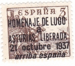 Sellos de Europa - España -  Cid. Sobreimpreso Homenaje de Lugo