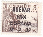 Sellos de Europa - España -  Cid. Sobreimpreso Huevar. Viva España
