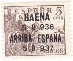 Stamps Europe - Spain -  Cid. Sobreimpreso Baena. Arriba España