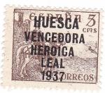 Sellos de Europa - España -  Cid. Sobreimpreso Huesca vencedora, heróica y leal