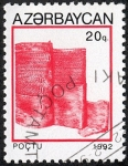 Stamps Asia - Azerbaijan -  Edificios y monumentos