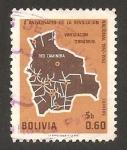 Stamps : America : Bolivia :  X anivº de la revolución nacional