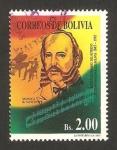 Stamps : America : Bolivia :  150 anivº del himno nacional, b. vincenti, compositor
