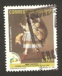 Stamps : America : Bolivia :  navidad, angel con espiga