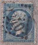 Stamps Europe - France -  NAPOLEON III SIN CORONA