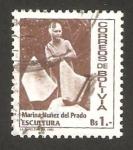 Stamps Bolivia -  marina nuñez del prado, escultora