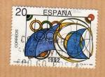 Stamps Spain -  Diseño infatil 1989 I Concurso Filatelico.