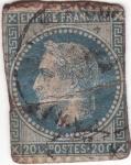 Stamps France -  NAPOLEON III CON CORONA