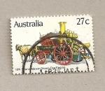 Stamps Australia -  Coche contra incendios