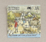 Stamps Australia -  Primera flota a Australia