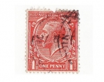 Stamps Europe - United Kingdom -  one penny