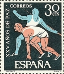 Stamps Spain -  XXXV año de paz española