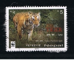 Sellos del Mundo : Asia : Nepal : 2010 year of the Tiger.  Tiger / Panthera tigris.