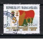 Sellos del Mundo : Africa : Madagascar : Bandera 50º aniver. 1960 - 2010