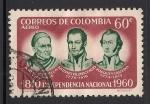 Sellos del Mundo : America : Colombia : Andres Rosillo, Antonio Villavicencio y Joaquin Caicedo.