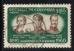 Sellos del Mundo : America : Colombia : Antonia Santos, Jose Acevedo y Gomez y Liborio Mejia.