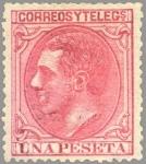 Stamps Europe - Spain -  ESPAÑA 1879 207 Sello Nuevo Rey Alfonso XII 1pta