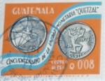Stamps : America : Guatemala :  Cincuentenario del Quetzal