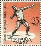 Stamps Spain -  juegos olimpicos de innsbruck y tokio.
