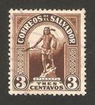 Stamps : America : El_Salvador :  estatua de atlacati